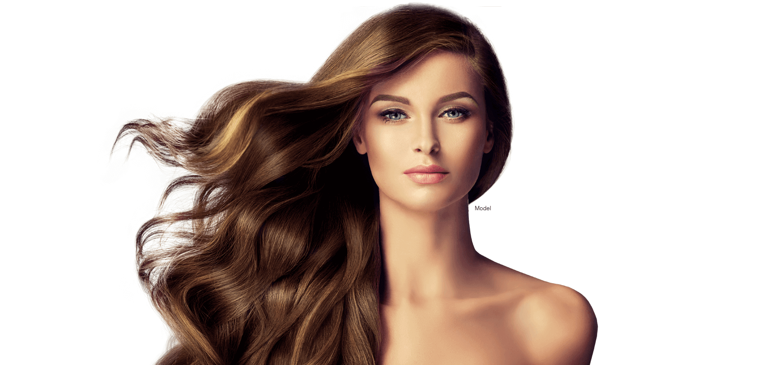 Woman with beautiful flowing hair
